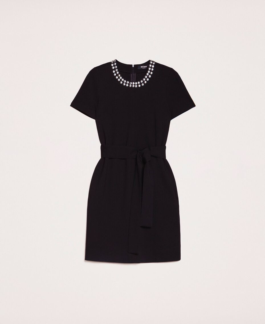 Dress with studs Black Woman 201MP2211-0S