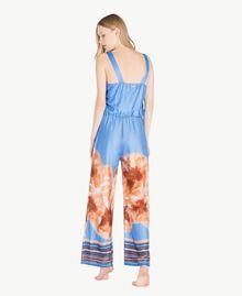 "Printed jumpsuit ""Lagoon"" Blue Mix Print Woman MS8NJJ-04"