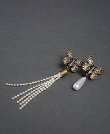 Ohrclips mit Schmetterling und Anhängern Altmessing Frau 192TA4363-01