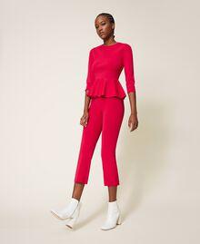 "Knit trousers ""Cerise"" Fuchsia Woman 202MP3104-03"