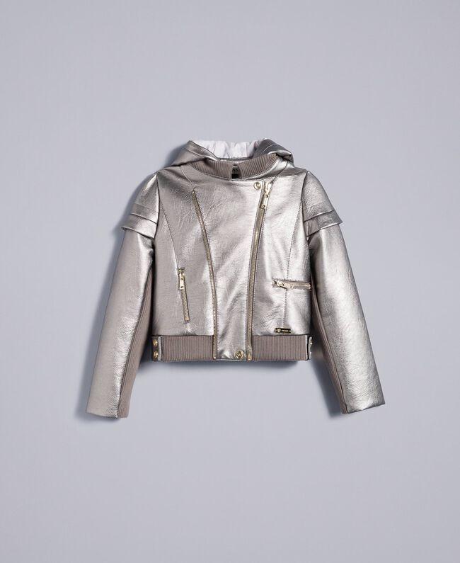 Jacke aus Metallic-Lederimitat Olive Kind GA82BN-01