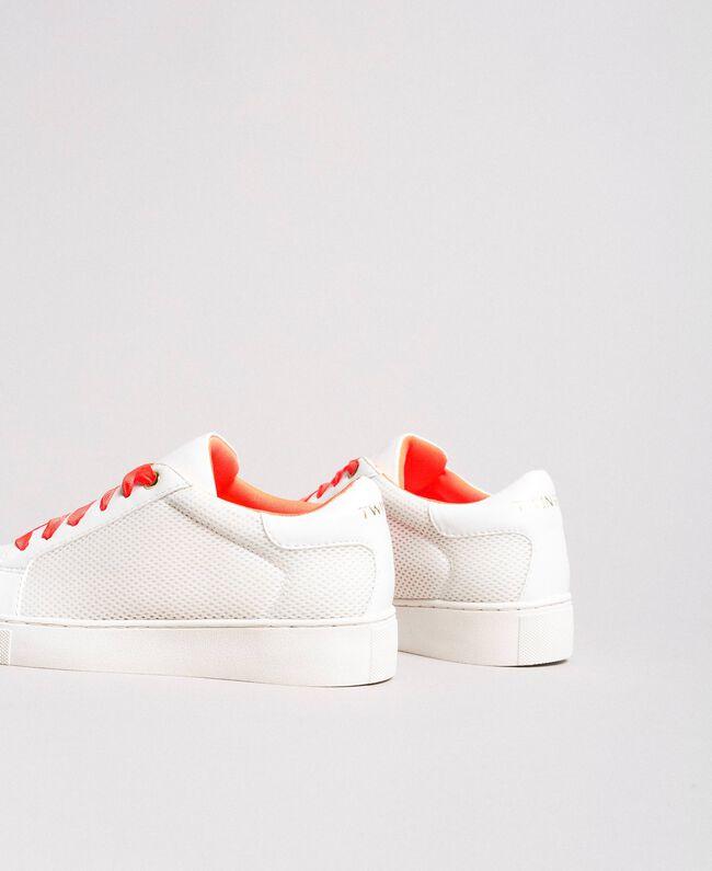 Sneakers aus Stoff mit Netzeffekt Weiß Frau 191LL49EE-04