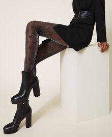 Tights with heart motif all over Black Woman 202TO514B-0S