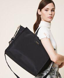 Sac cabas Twinset Bag en satin avec bandoulière Noir Femme 202TB7200-0S