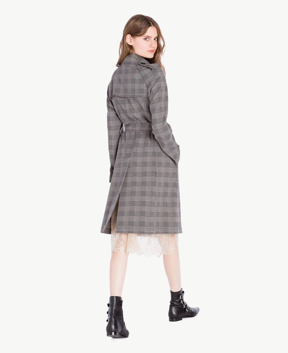 Check trench coat Jacquard Gingham Woman PS827N-03