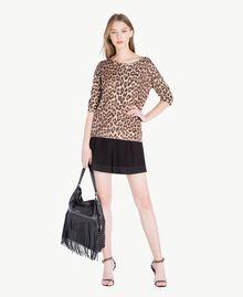 Pullover mit Animalier-Print Leopardenprint Frau PS83LE-05