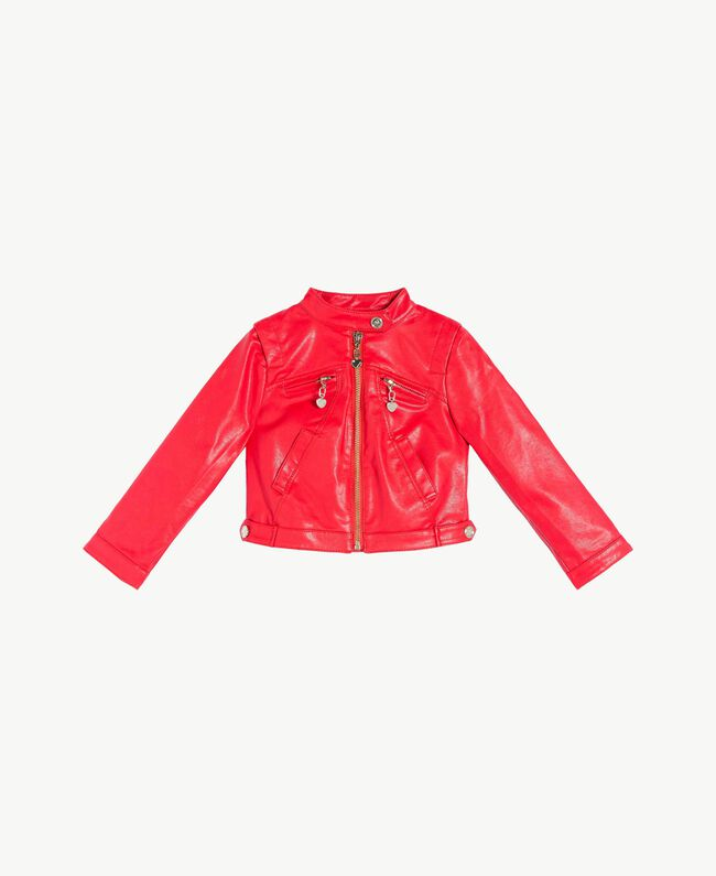 Faux leather jacket Pomegranate Red Child FS82DA-01