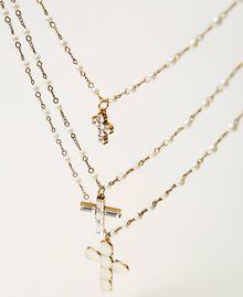 Sautoir avec croix Or «Laiton Vieilli Cuivré» Femme 211TO5011-02