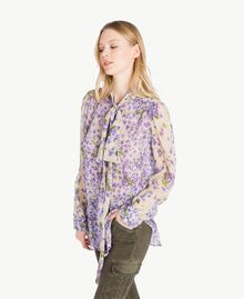 Printed shirt Violet Mix Print Woman PS82X5-02