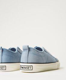 Sneakers de lona con logotipo Denim Mujer 211TCT170-04