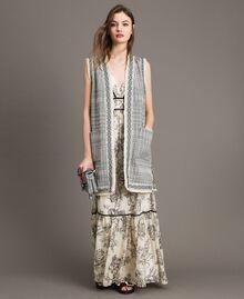 Robe longue en soie mélangée avec imprimé floral Imprimé Toile De Jouy Noir Femme 191TT2402-0T