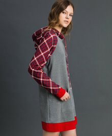 'Tury x Twinset' maxi sweatshirt White / Checks Woman 192LL21CC-02