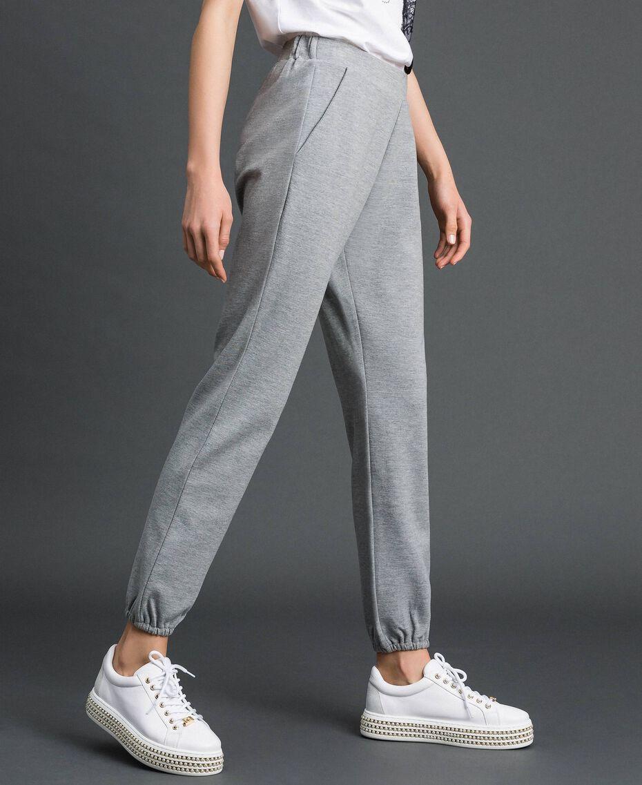 Pantalon de jogging Gris Mélangé Femme 192LI2UEE-02