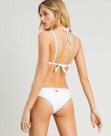 Haut de bikini triangle avec anneaux Blanc Femme 191LBM222-03