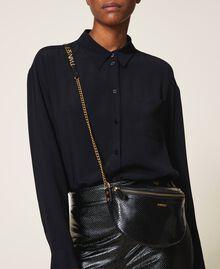 Animal print leather shoulder bag Black Python Print Woman 202TD8021-0T