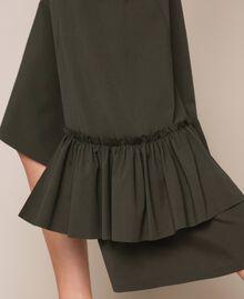 Long asymmetric dress with flounce Elm Green Woman 201ST2142-05