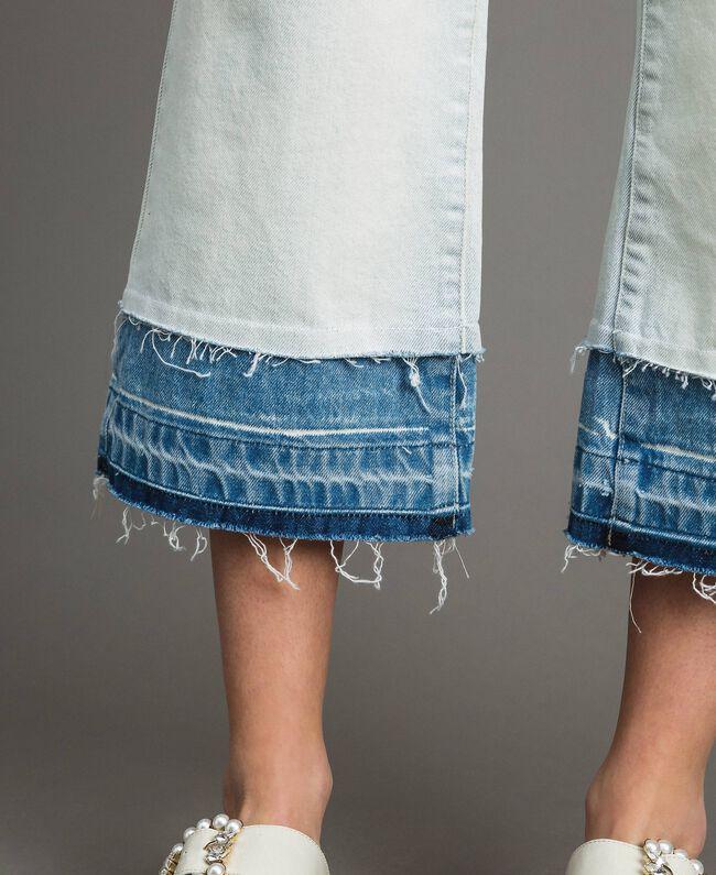 Cotton denim wide leg jeans Denim Blue Woman 191MT2432-05