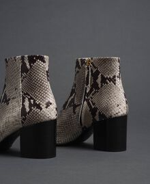 Leather ankle boots with animal print Rock Python Print Woman 192TCT012-02
