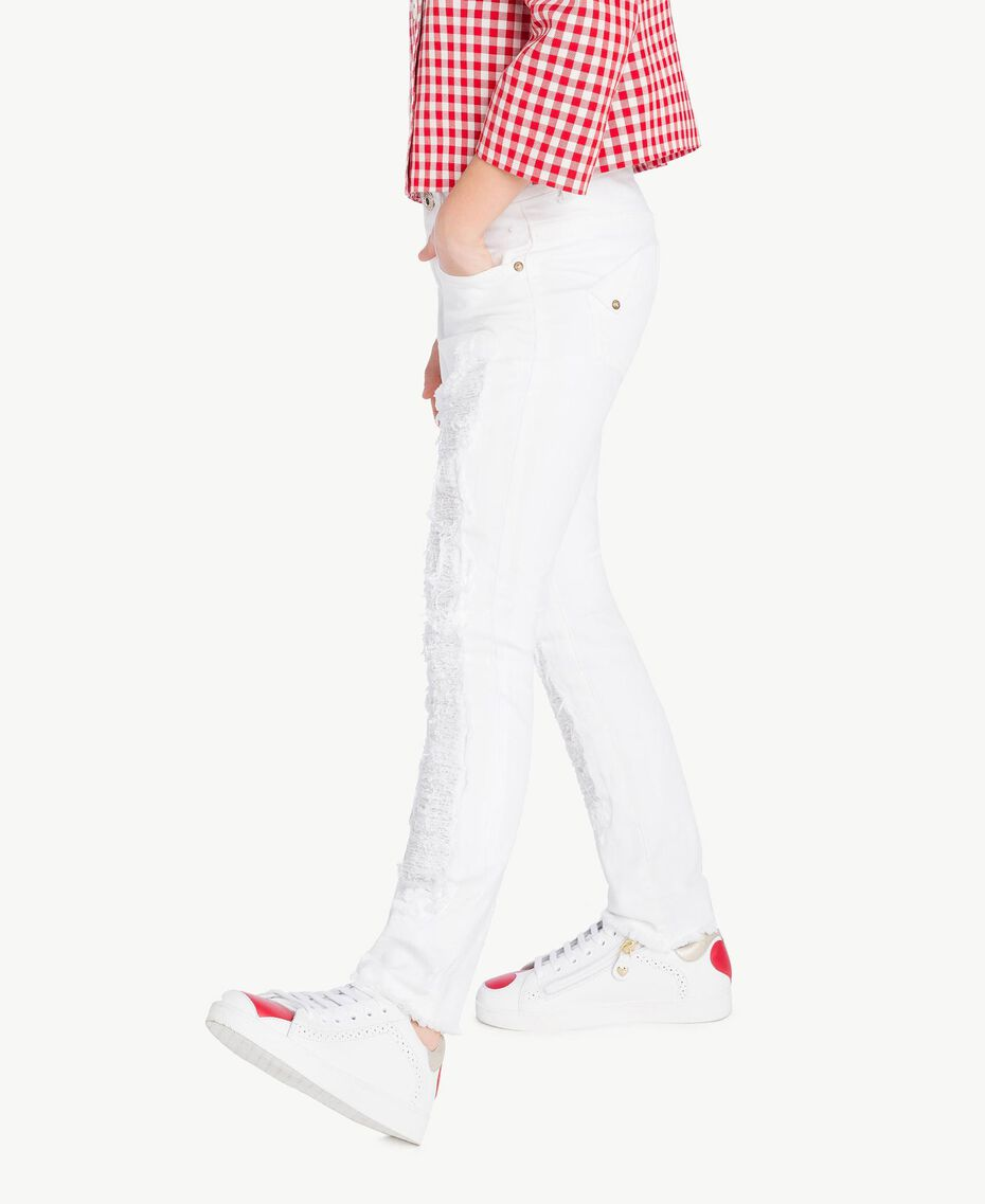 "Pantalon skinny Blanc ""Papers"" Enfant GS82CA-03"