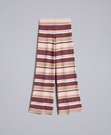 Striped lurex palazzo trousers Multicolour Pink / Burgundy Woman PA832Q-0S