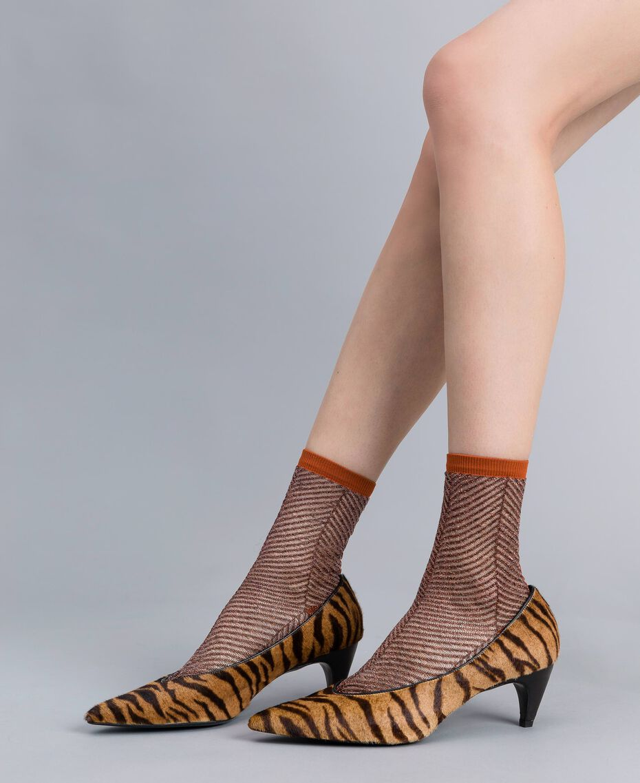 Animal print court shoes Tiger Print Woman CA8TEA-0S