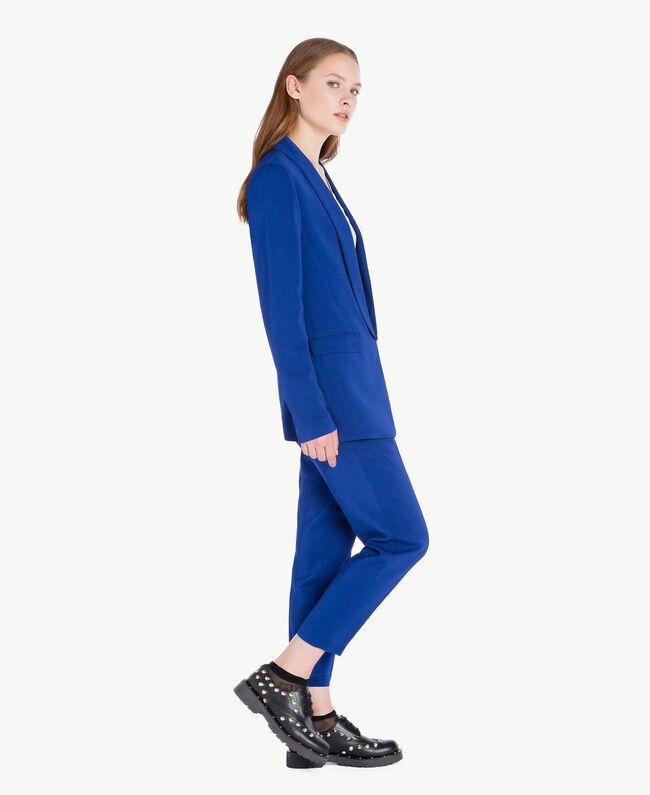Pantalon cigarette slouchy Bleu Bleuprint Femelle PA72TA-01