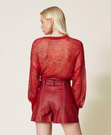 High-Waist-Shorts mit Gürtel Schwarz Frau 212TP2510-03