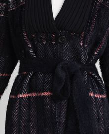 Jacquard knit coat Black Woman 192MT3210-06