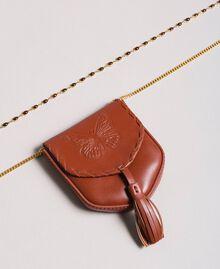 Halskette mit Leder-Münz-Portemonnaie Leder Frau 191TO5345-02