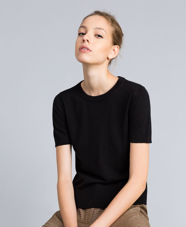 Silk and cashmere jumper Black Woman PA83GD-01