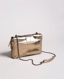 Rebel leather shoulder bag Gold Yellow Woman 191TO8641-04