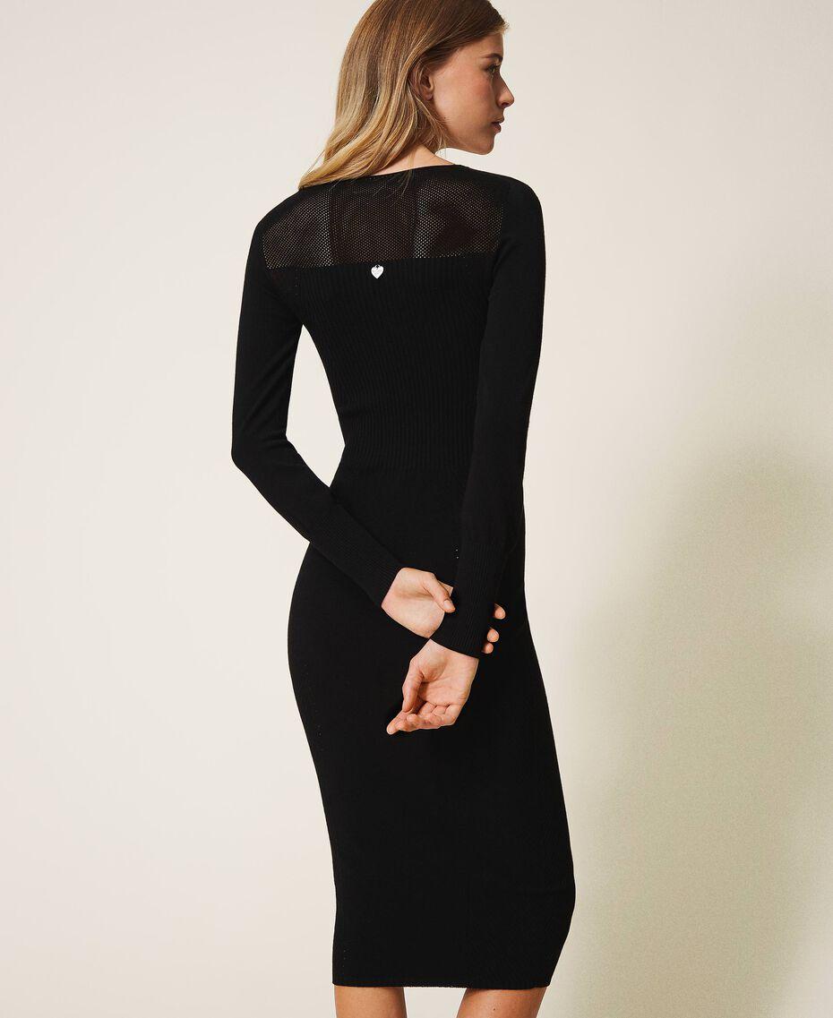 Robe fourreau en maille Noir Femme 202TT3120-03