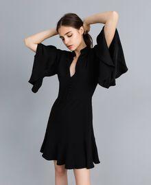 Envers satin dress Black Woman TA824C-01
