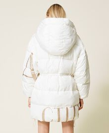 'Alum' puffer jacket with logo print Mother Of Pearl Woman 212AT2040-05