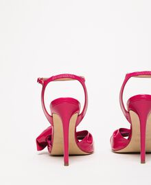 Patent leather sandals with maxi bow Black Cherry Woman 201TCP114-02