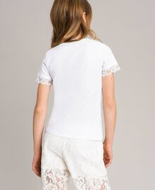 Jersey T-shirt with lace White Child 191GJ2180-03