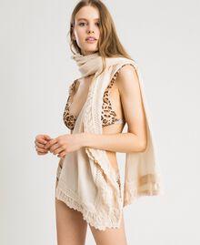 """Cotton muslin scarf """"Milkway"""" Beige Woman 191LB4ZAA-0S"""