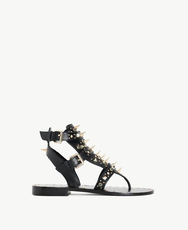 Sandales avec clous Noir Femme CS8TGC-01