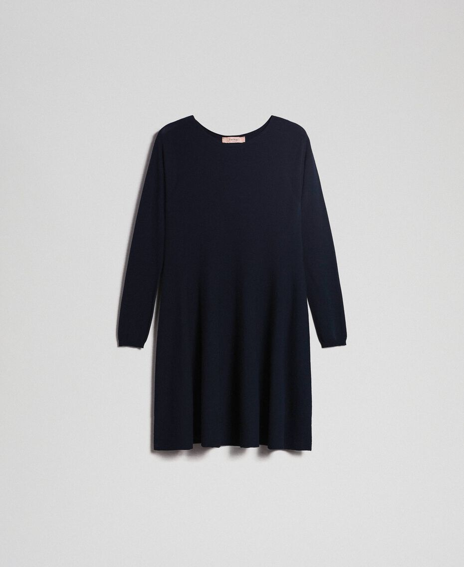Knitted full dress Midnight Blue Woman 192TT3281-0S
