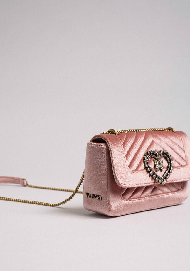 Small velvet shoulder bag