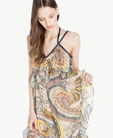 Printed jumpsuit Paisley Print Woman SS82MF-04