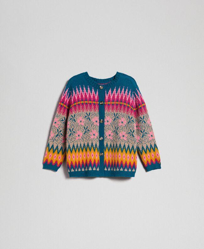 Cardigan Pull FemmeFantaisieTwinset Jacquard Multicolore Milano kPO8n0wX