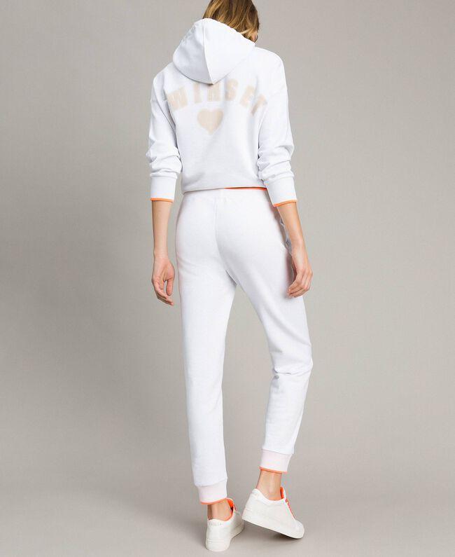 Fleece-Jogginghose Weiß Frau 191LL21CC-04