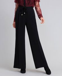 Wide cady trousers Black Woman PA825D-02
