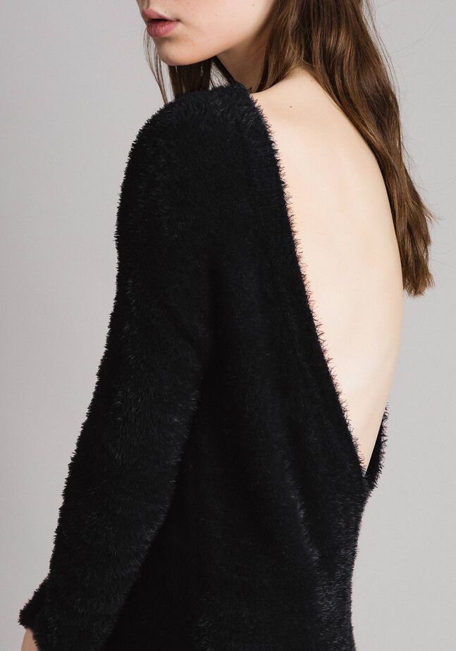 Fur stitch jumper