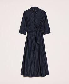 Long denim shirt dress Denim Blue Woman 201MP2401-0S