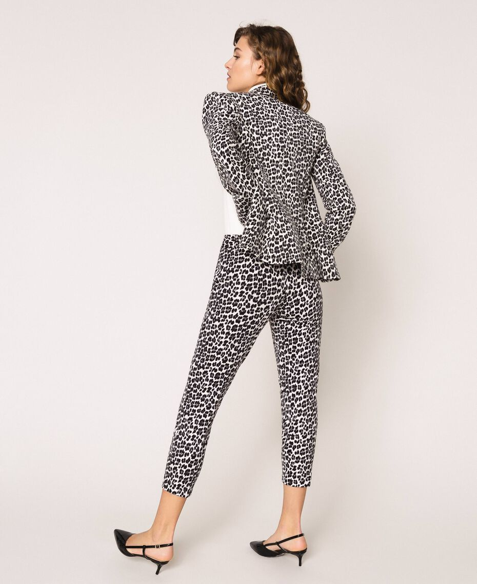 Animal print cigarette trousers Lily Animal Print / Black Woman 201MP2452-03