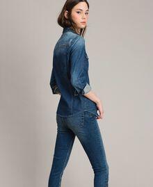 Camicia in denim con ricamo Denim Blue Donna 191MP2411-03