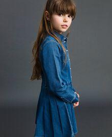 Hemdblusenkleid in Jeansoptik Mittleres Denim Kind 192GJ2510-02