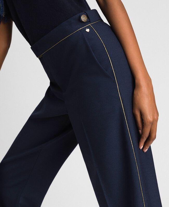 Cigarette trousers in technical wool Midnight Blue Woman 192TT2458-04